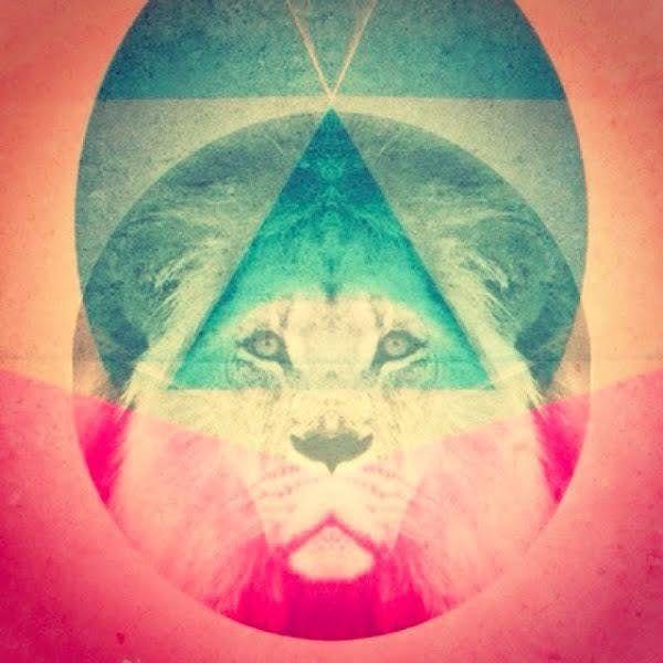лев в треугольнике картинки или малая