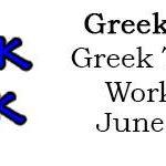 Greek Week Greek Theatre Workshop