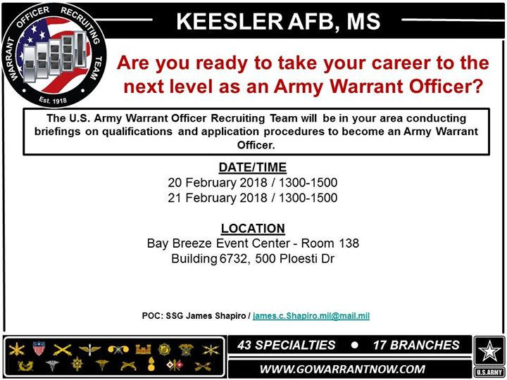 Warrant Officer Recruiting