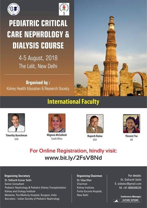 Pediatric Critical Care Nephrology & Pediatric Dialysis
