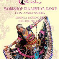 Workshop di Danza Kalbeliya con Aasha Sapera