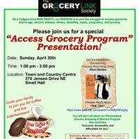 Access Grocery Program - Airdrie