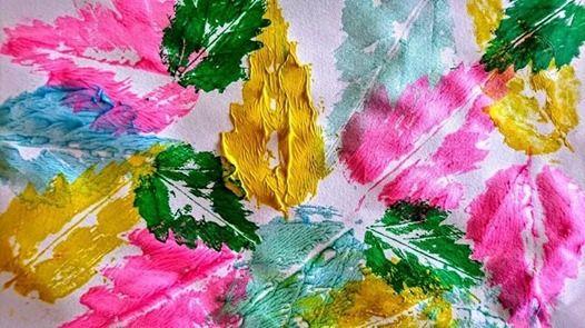 Leaf Printing at Lake Erie State Park, New York