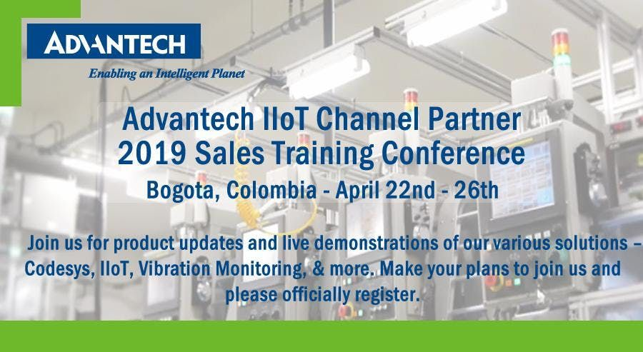 Advantech IIoT Channel Partner 2019 Sales Training Conference - Colombia