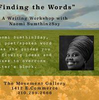 Writing Workshop w Naomi Sumthin2Say