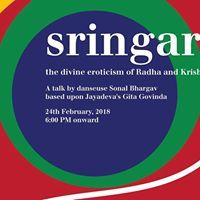 Sringara a talk about Gita Govinda by danseuse Sonal Bhargav