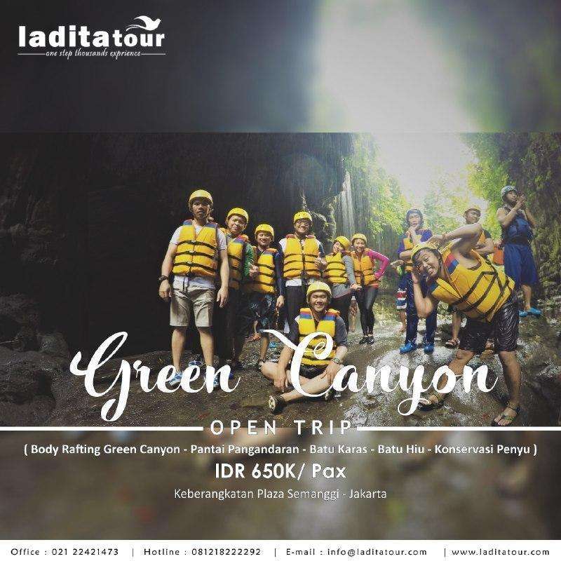 OPEN TRIP Green Canyon Pangandaran Indonesia 15 - 17 Juni 2018 - Ladita Tour Jakarta