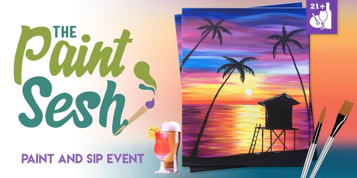 Paint night in Sunset Beach CA  Paradise Beach