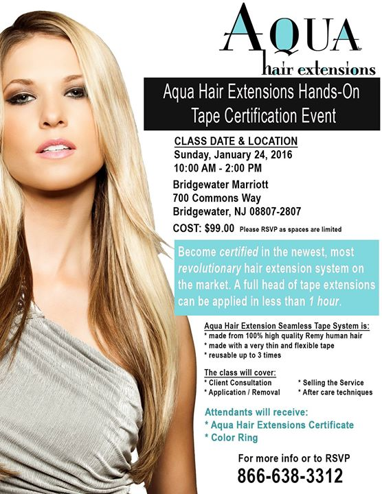 Aqua Hair Extensions Hands On Tape Certification Event At
