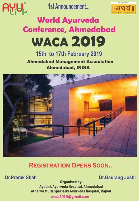 World Ayurveda Conference Ahmedabad Waca-2019