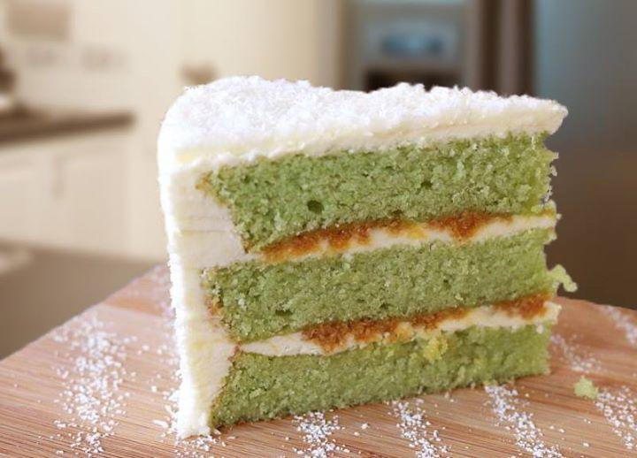 Green Tea Chiffon Cake Lychee Mousse