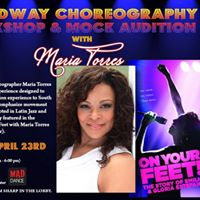 Broadway Choreography Workshop &amp Mock Audition with Maria Torres