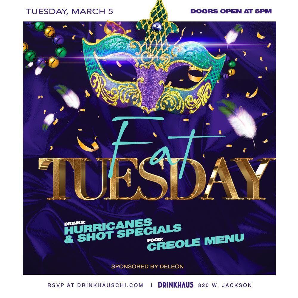Fat Tuesday Mardi Gras Celebration DrinkHaus Supper Club