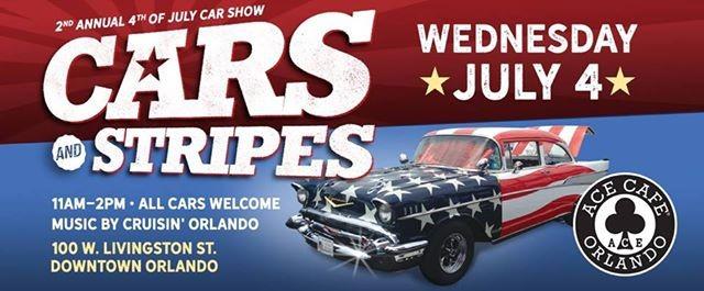 Cars Stripes Show At Ace Cafe Orlando Florida - Ace cafe orlando car show