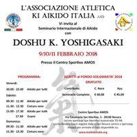 Seminario Internazionale Aikido Doshu K. Yoshigasaki