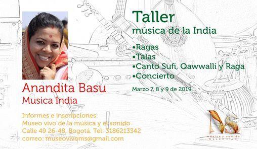 Anandita Basu. Taller de msica de la India