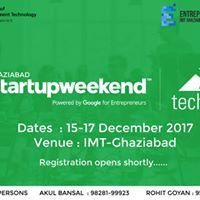 Startup Weekend Ghaziabad 2017