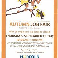 Autumn Job Fair - City of Norfolk Workforce Development Center