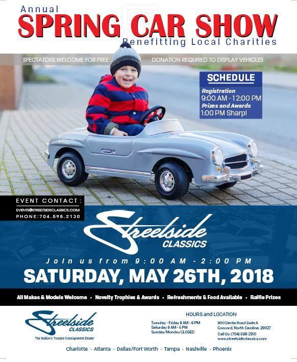 Annual Spring Car Show At Streetside Classics Charlotte Concord - Streetside classics car show