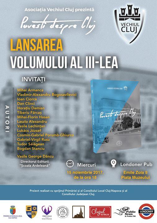 Poveti despre Cluj - lansarea volumului al III-lea