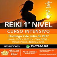 Reiki - curso 1er Nivel