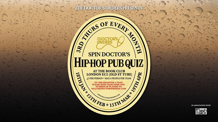 Spin Doctors Hip-Hop Pub Quiz