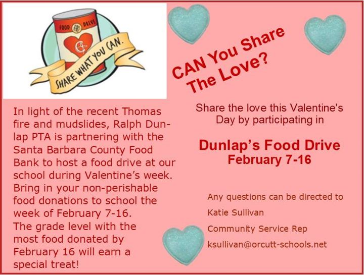 Dunlaps Food Drive At Ralph Dunlap Elementary Santa Maria