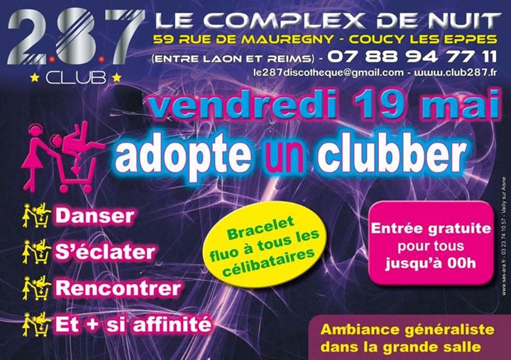 Adopte Un Clubber At Le Club 2 8 7 Coucy Les Eppes