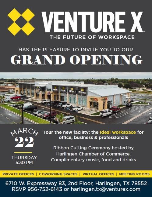 Ribbon Cutting Grand Opening Venture X At Venture X Harlingen
