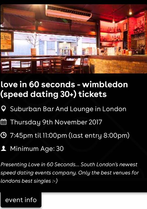 best dating events london
