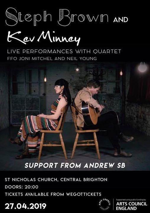 Steph Brown & Kev Minney live performance with quartet