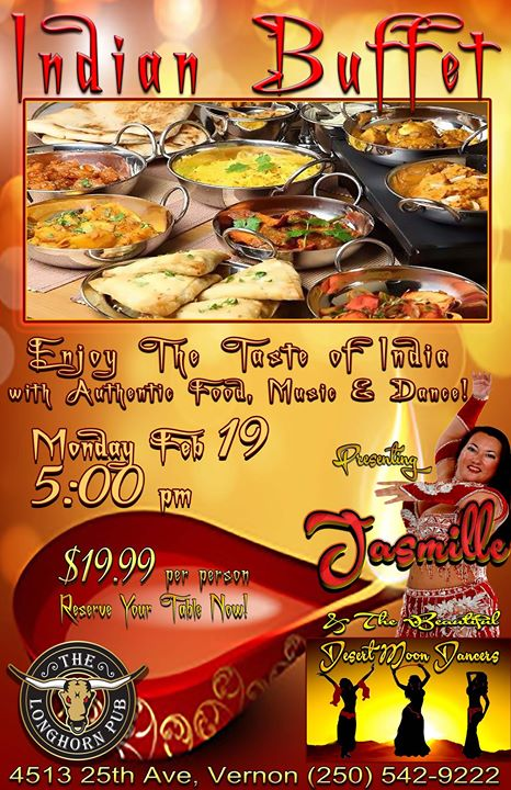 Indian Buffet at The Longhorn Pub