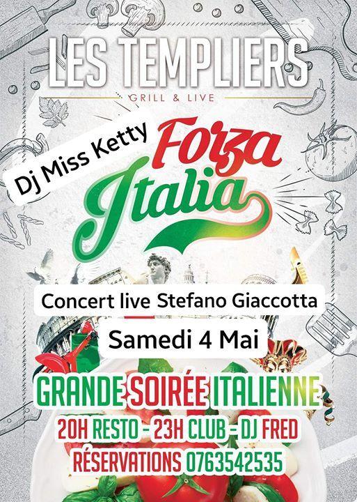 Soirée @Italienne Dîner Concert Live  at Les Templiers