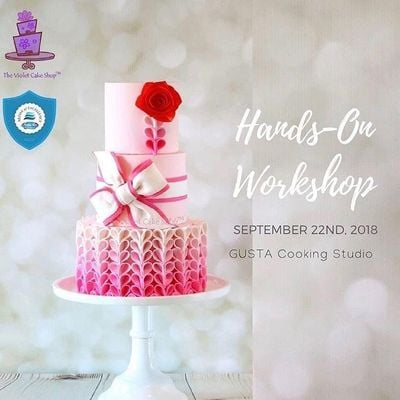 """""""Pretty in Pink Ombre Ruffle Cake"""" Decorating Class with Violet Lin Tran"""