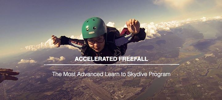 Solo Skydive License Course - Accelerated Freefall at