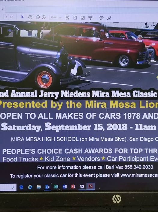 Nd Annual Jerry Niedens Mira Mesa Classic Car Show At Mira Mesa - Classic car show california