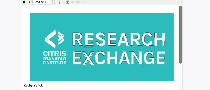 CITRIS Research Exchange with Kathy Yelick