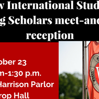 School of Education New International Students and Visiting Scholars...