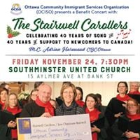 Stairwell Carollers concert for Ociso