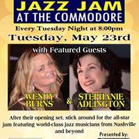 Wendy Burns &amp Stephanie Adlington at Jazz Jam at the Commodore