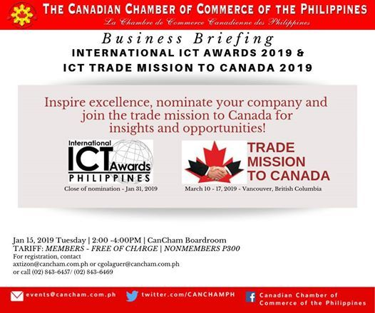 Business Briefing: International ICT Awards & ICT Trade Mission at