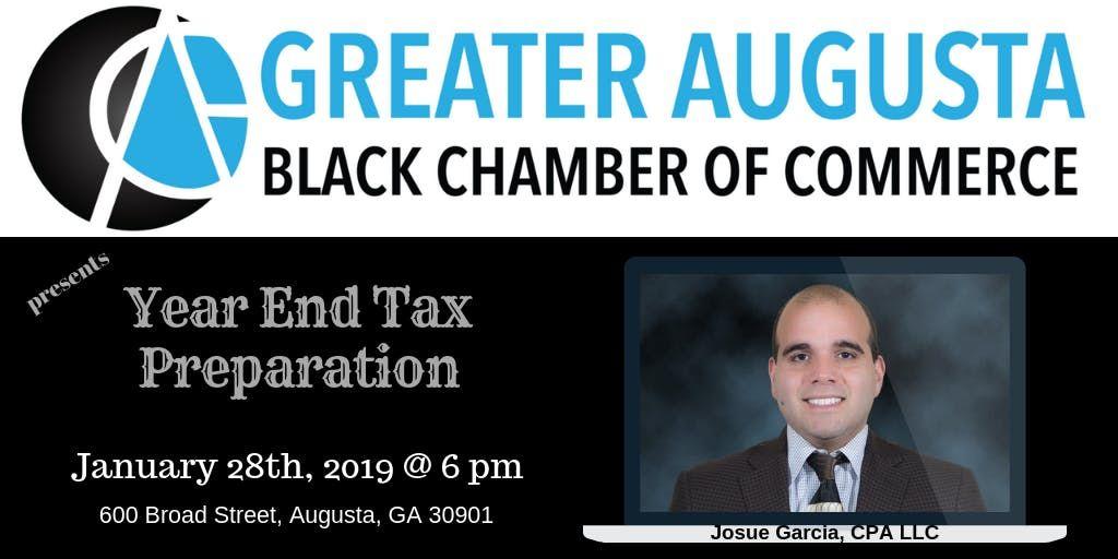 GABCC presents Year End Tax Preparation with Josue Garcia CPA LLC