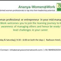 Ananya-WomenWork - Two day Workshop