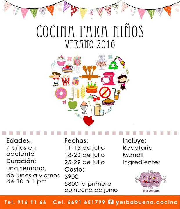 Precio Especial Para Curso Cocina Para Ninos At Yerbabuena Guanajuato