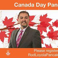 Canada Day - Rod Loyola Pancake Breakfast