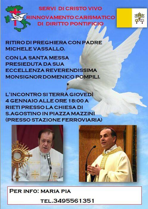 Padre Michele Vassallo Calendario.Ritiro Di Preghiera Con Padre Michele Vassallo At Piazza