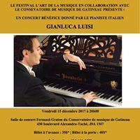 Concert bnfice donn par le pianiste Gianluca Luisi
