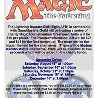 Charity Magic Tournament - EAFB Lightning Booster Club