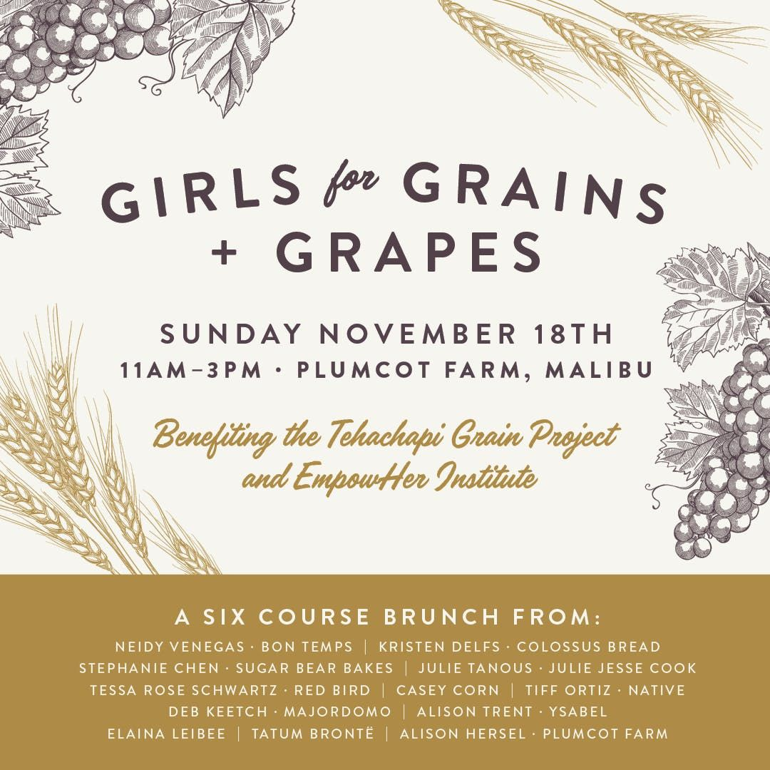 Girls for Grains + Grapes at Plumcot Farm, Malibu