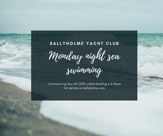 Monday night sea swimming